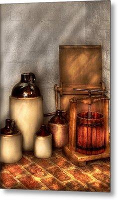 Farm - Bottles - Let's Make Some  Apple Juice Metal Print by Mike Savad