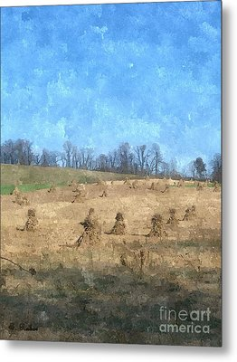 Metal Print featuring the painting Farm Days 2 by Sara  Raber
