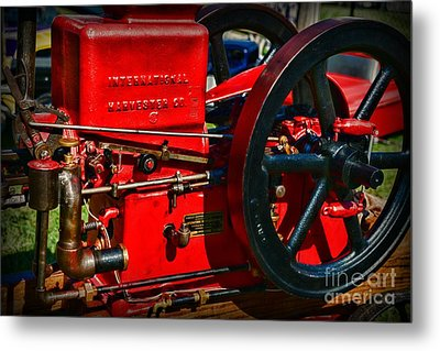 Farm Equipment - International Harvester Feed And Cob Mill Metal Print by Paul Ward