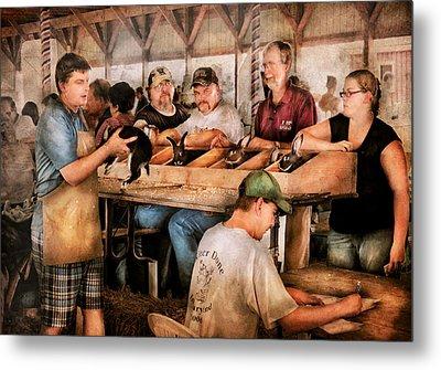 Farm - Farmer - By The Pound Metal Print by Mike Savad