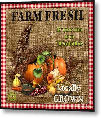 Farm Fresh-jp2384 Metal Print by Jean Plout