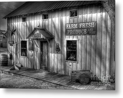 Farm Fresh Produce Bw Metal Print by Mel Steinhauer