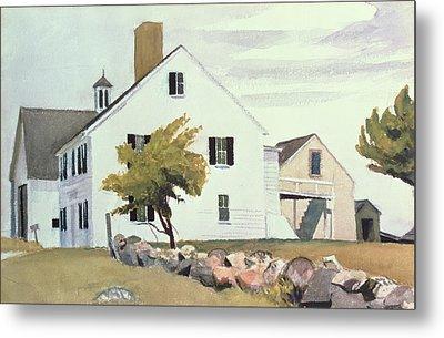 Farm House At Essex Massachusetts Metal Print