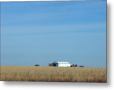Farm House Kansas Metal Print