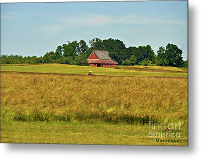 Metal Print featuring the photograph Farm In Oregon by Mindy Bench