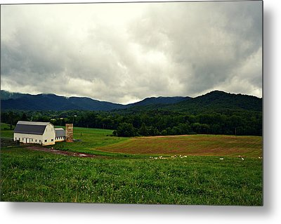 Farm In Swannanoa Nc Metal Print