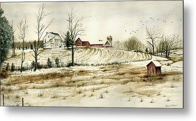 Farm On Belcher Road Metal Print by Tom Hedderich