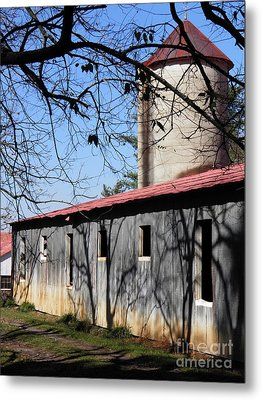 Farm Shadows Metal Print by Amy Stuart Langlo