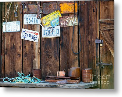Metal Print featuring the photograph Farm Shed Memories by Vinnie Oakes