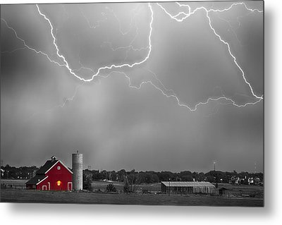 Farm Storm Hdr Bwsc Metal Print by James BO  Insogna