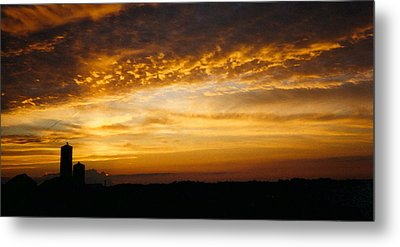 Metal Print featuring the photograph Farm Sunset by Peg Toliver