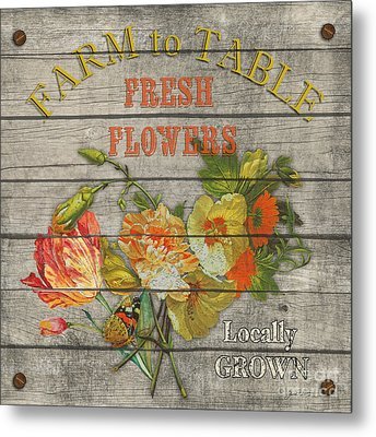 Farm To Table Flowers-jp2633 Metal Print by Jean Plout