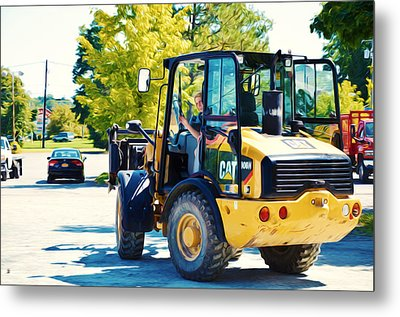 Farm Tractor 2 Metal Print by Lanjee Chee