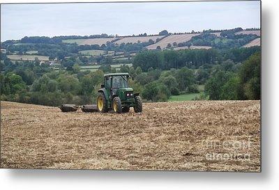 Farm Tractor Metal Print by John Williams
