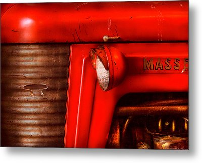 Farm - Tractor - The Tractor Metal Print by Mike Savad