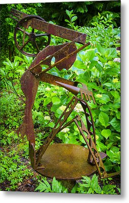 Farm Worker Metal Print by Carolyn Marshall