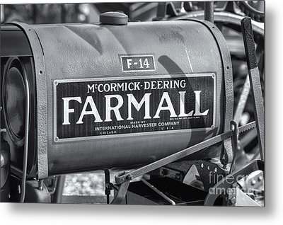 Farmall F-14 Tractor II Metal Print by Clarence Holmes