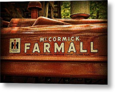 Farmall Tractor Metal Print by Kenny Francis