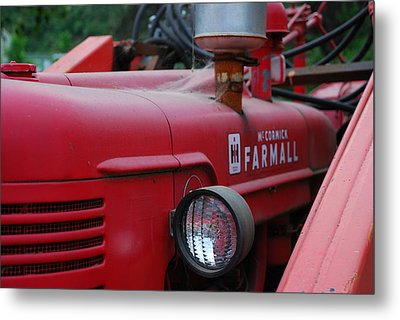 Metal Print featuring the photograph Farmall Tractor by Ron Roberts