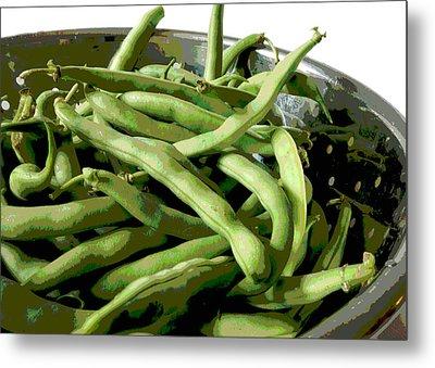 Farmers Market Green Beans Metal Print by Ann Powell