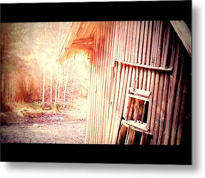 There Will Be A New Morning At The Old Farm And We Will Be There  Metal Print by Hilde Widerberg