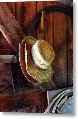 Farmer's Straw Hats Metal Print by Susan Savad