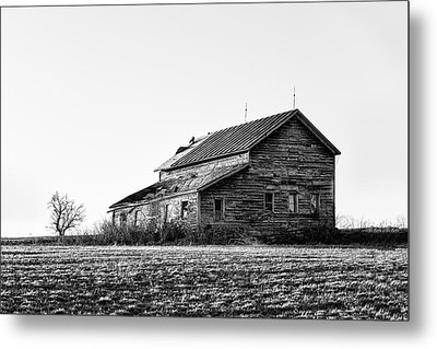 farmhouse in spring - Old Barns Metal Print by Gary Heller