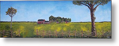 Metal Print featuring the painting Farmhouse by Zeke Nord