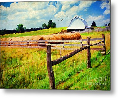 Farming Metal Print by Darren Fisher
