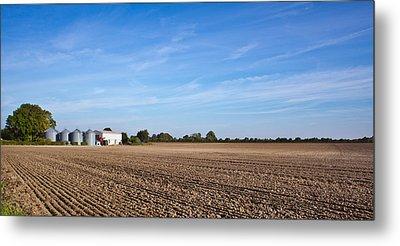 Farming Landscape Metal Print by Tom Gowanlock