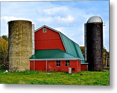 Farming Metal Print by Frozen in Time Fine Art Photography