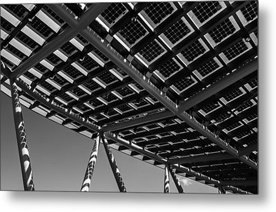 Metal Print featuring the photograph Farming The Sun - Architectural Abstract by Steven Milner