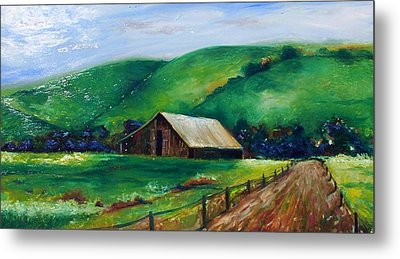 Metal Print featuring the painting Farmland by Emery Franklin