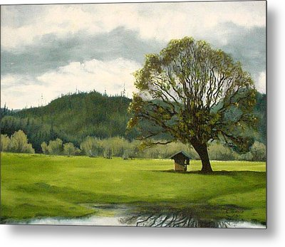 Metal Print featuring the mixed media Farmland Hwy 36 by Kenny Henson