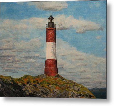 Metal Print featuring the painting Faro Del Fin Del Mundo by Stan Tenney