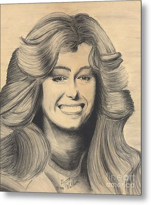 Farrah Fawcett Metal Print by D Wallace