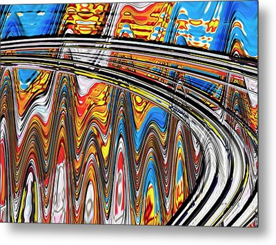 Metal Print featuring the digital art Highway To Nowhere Abstract by Gabriella Weninger - David