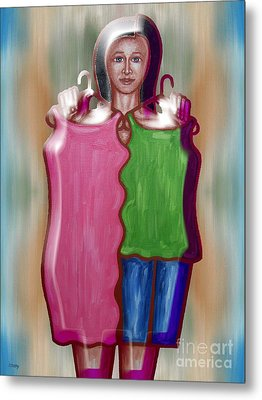 Fashion Dilemma Metal Print by Patrick J Murphy