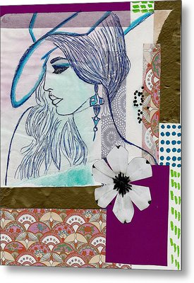Fashion Girl Collage Metal Print