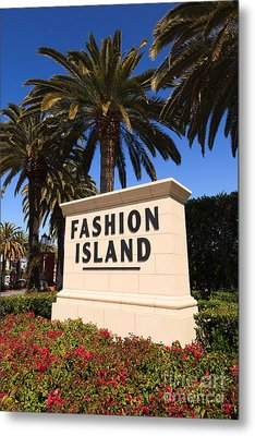 Fashion Island Sign In Orange County California Metal Print by Paul Velgos