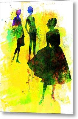 Fashion Models 2 Metal Print by Naxart Studio
