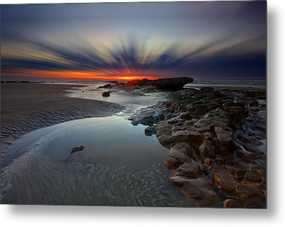 Fast Light Metal Print by Mark Leader
