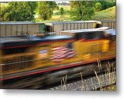Metal Print featuring the photograph Fast Train by Bill Kesler