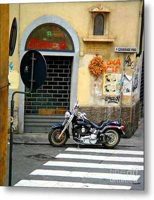 Fat Boy In Florence Metal Print