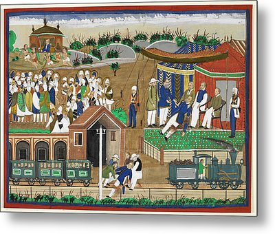 Fatal London Underground Accident Metal Print by British Library