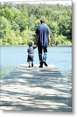 Father And Son Metal Print by Andrea Anderegg