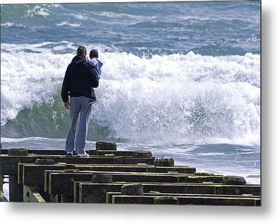 Metal Print featuring the photograph Father And Son by Greg Graham