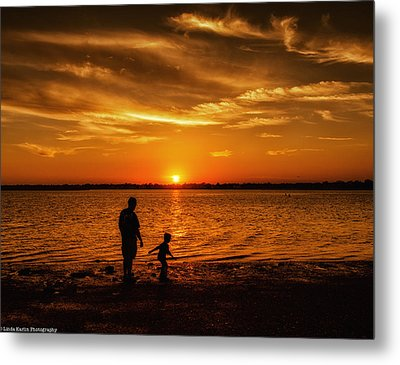 Metal Print featuring the photograph Father And Son by Linda Karlin
