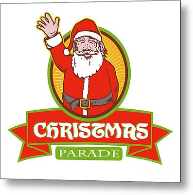 Father Christmas Santa Claus Parade Metal Print by Aloysius Patrimonio
