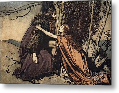 Father Father Tell Me What Ails Thee With Dismay Thou Art Filling Thy Child Metal Print by Arthur Rackham